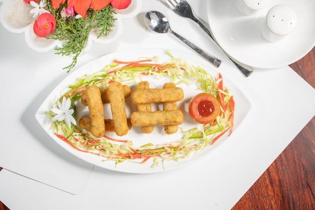 インド料理店のステイターfoodveggies fingers