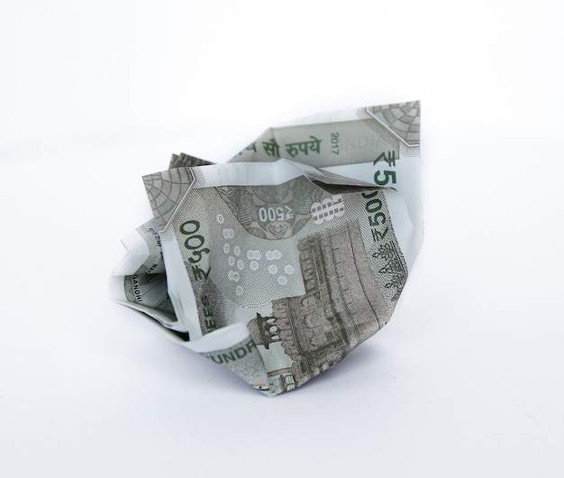Indian rupees five hundred money background