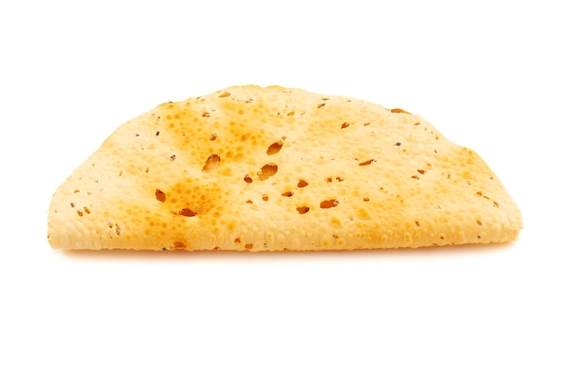 Indian snack dish roasted papad also know as papadum or crackers