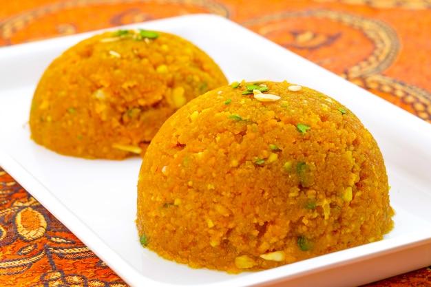 Indian special sweet food halwa