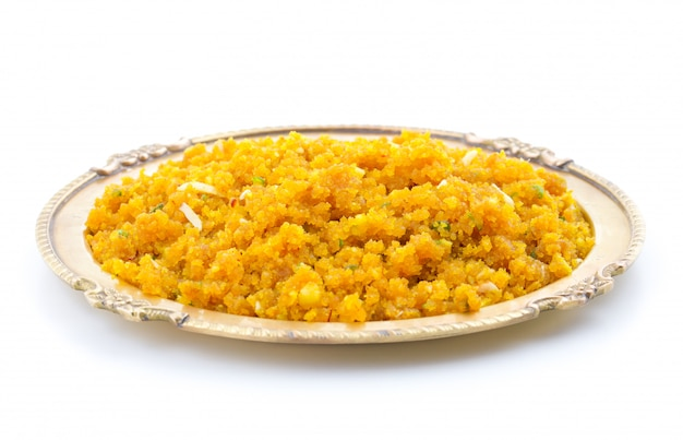 Indian special sweet food halwa