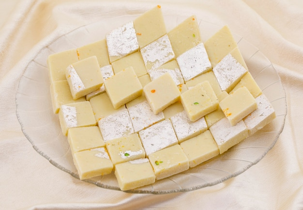 Indian special sweet food kaju katli