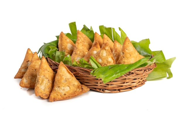 Indian special traditional street food vegetarian samosa or samsa