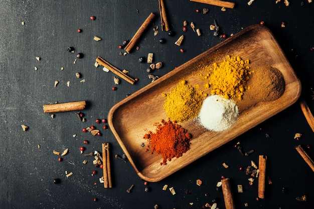 Indian spices and cinnamon