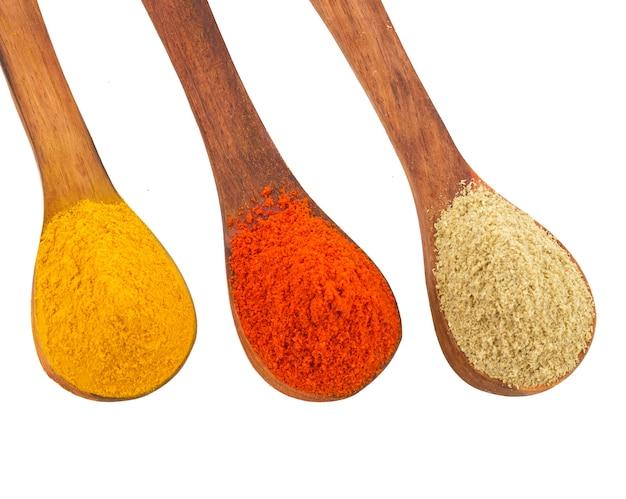 インドのスパイスの木製スプーン