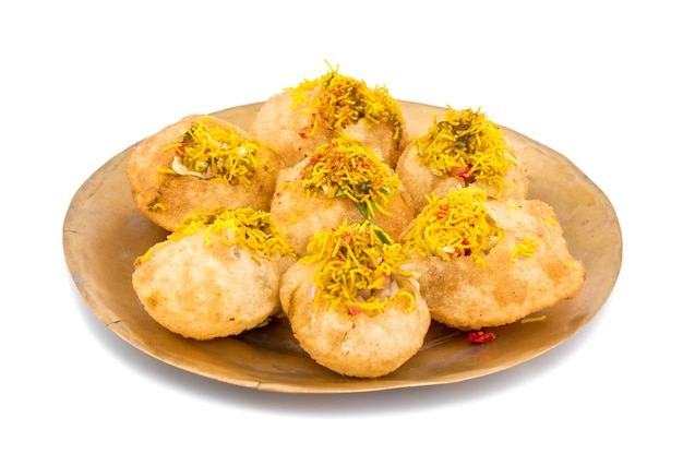 Indian spicy chaat item sev puri