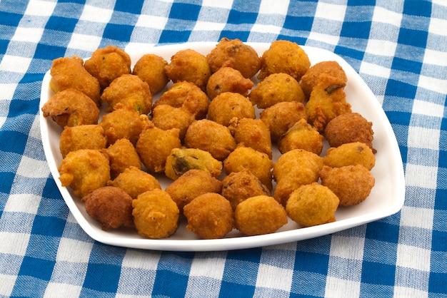 Indian street food pakora