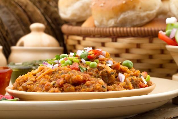 Indian street food pav bhaji