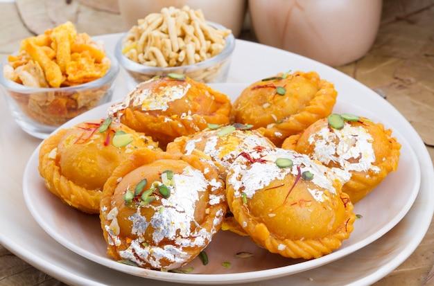 Indian sweet food chandrakala