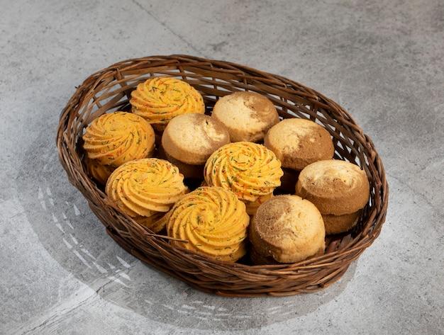 Indian sweet food nankhatai or cookies