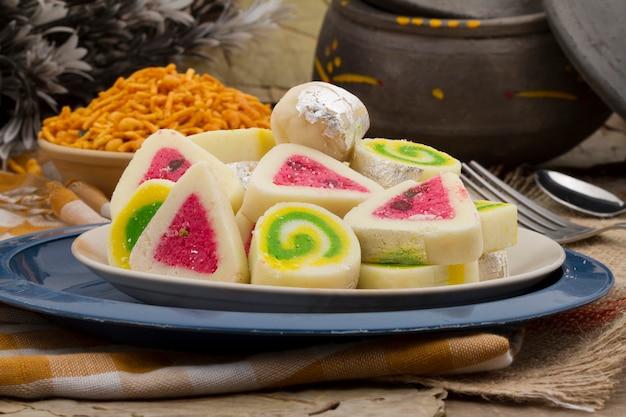Indian sweet food pera