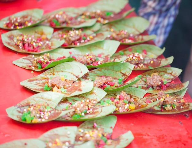 Indian sweet group of paan masala
