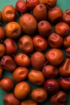 Indian sweet jujube or ber or berry or ziziphus mauritiana, in a bowl or over white background
