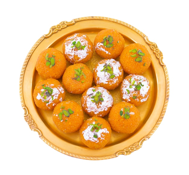 Indian sweet motichoor laddoo
