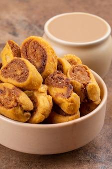 Indian teatime traditional spicy snack bhakarwadi