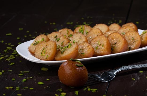 Indian traditional dessert gulab jamun