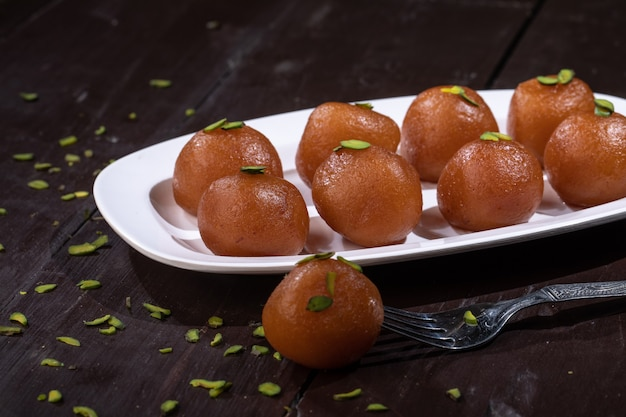 Indian traditional dessert gulab jamun