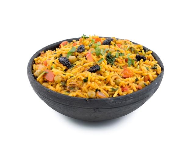 Indian traditional dessert veg biryani