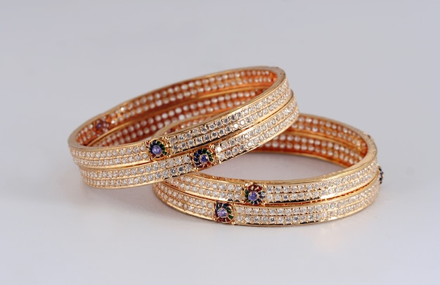 Indian traditional female jewelry bangles