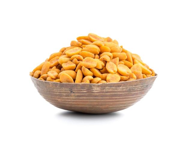 Indian traditional snack food masala peanuts