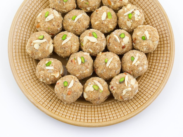 Indian traditional sweet food urad dal laddu