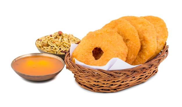 Indian traditional sweet kachori food