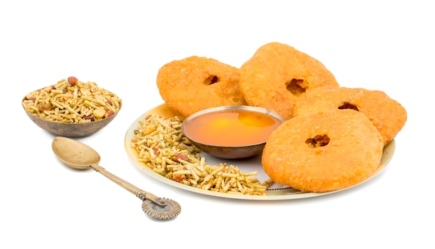 Indian traditional sweet kachori fooe