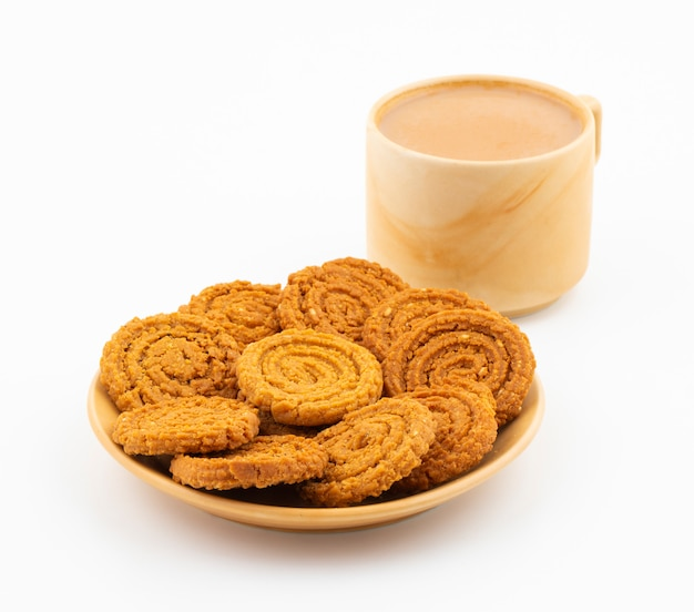Indian traditional tea time snack chakli