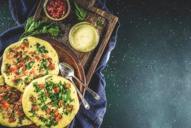Indian uttapam pancakes
