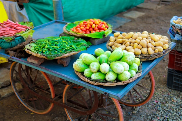 Indian vegetables market