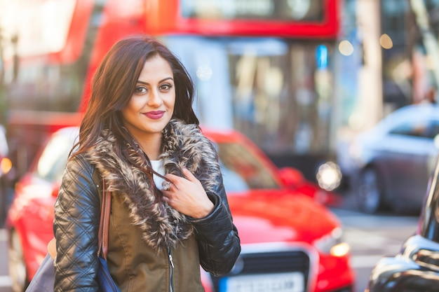 Indian woman portrait in london