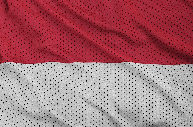 Indonesia flag printed on a polyester nylon mesh