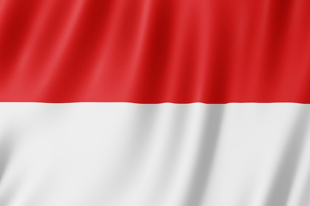 Indonesia flag waving in the wind.