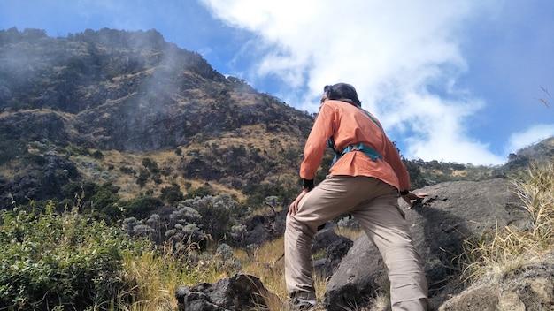 An indonesian climber photos