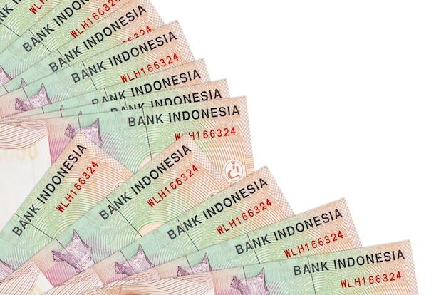 Indonesian rupiah bills lies isolated