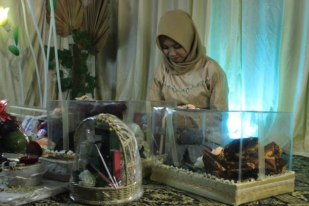 인도네시아 전통 결혼식 인도네시아 요리 많은 전통