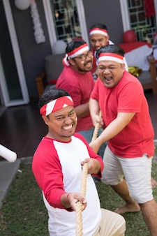 Indonesian tug of war competition