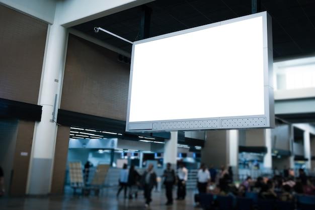 Indoor advertising billboards.