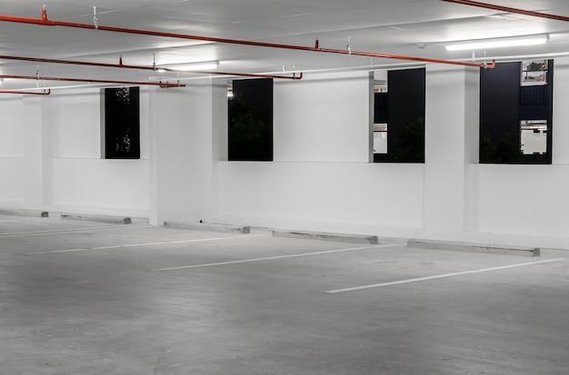 Indoor empty parking lot