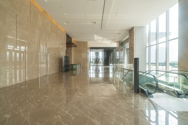 Indoor hall of financial center office building