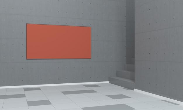 Indoor orange signboard