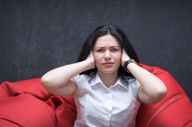 Indoor picture of upset worker