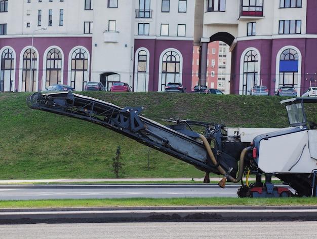 Industrial asphalt removal machine. road repairs.