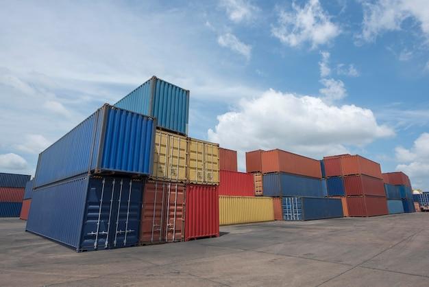 물류수출입사업용 산업용 컨테이너 야드