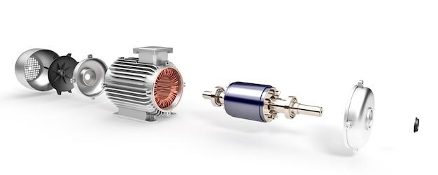 산업용 전기 모터 분해 된 전기 모터