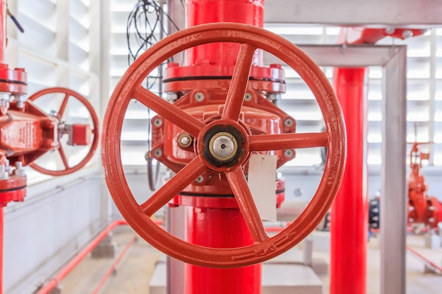 Industrial fire pump station for water sprinkler piping and fire alarm control system