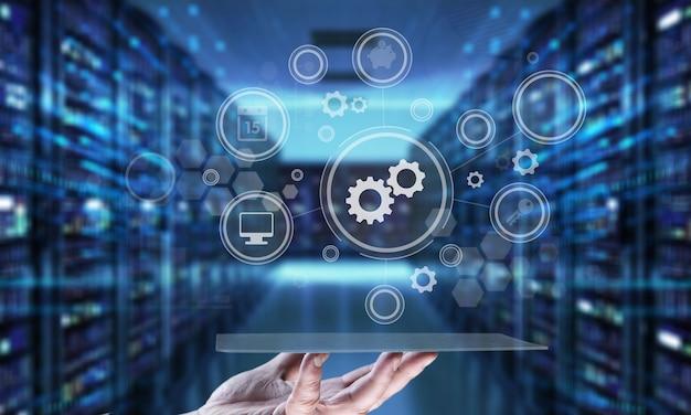 산업 통합 자동화 현대화 비즈니스 인터넷 개념