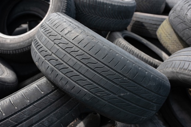 Industrial landfill for the processing of waste tires and rubber tires