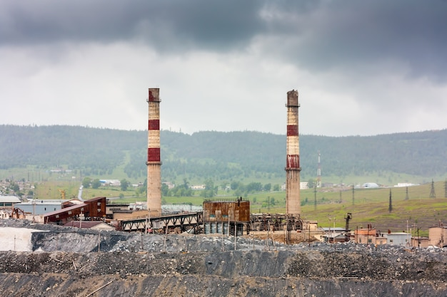 Промышленный ландшафтный магнезитовый завод