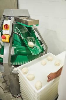 ピザ生地の準備のための産業機械
